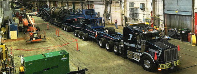19 Axle Trailers Have Total Well Space of 73 Feet